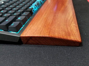 Hand crafted Premium Wooden Keyboard Wrist Rest - Teal Technik