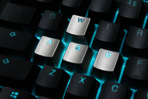 Metal WASD Keycaps - Teal Technik
