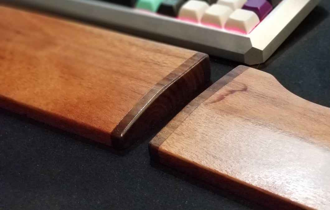Saddle Wooden Wrist Rest - Teal Technik