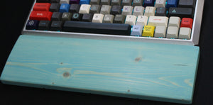 Teal Wooden Wrist Rest - Teal Technik