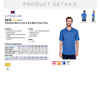 8210 UltraClub Men's Cool & Dry Mesh Piqué Polo OES