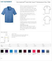 OMS Port Authority® Youth Silk Touch™ Performance Polo Y540