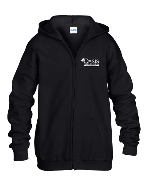 OMS Gildan ADULT Heavy Blend™ Adult 8 oz., 50/50 Full-Zip Hood G186
