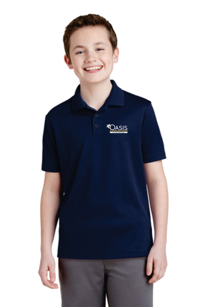 YST640 Sport-Tek® Youth PosiCharge® RacerMesh® Polo OES