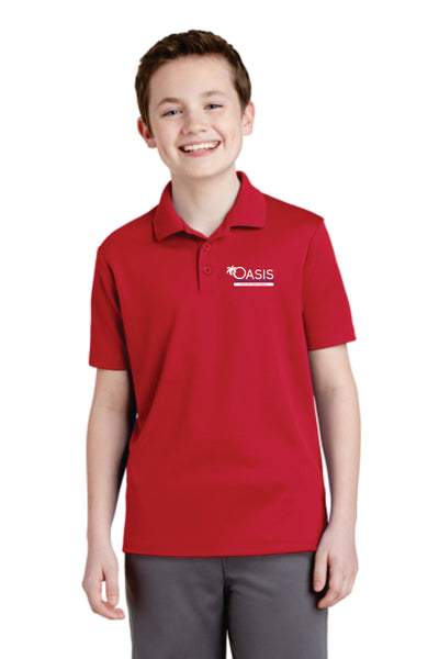YST640 Sport-Tek® Youth PosiCharge® RacerMesh® Polo OEN