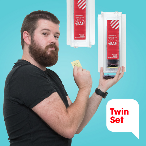 Twin Bulk Condom Dispenser - Wall Mountable - YEAH Shop