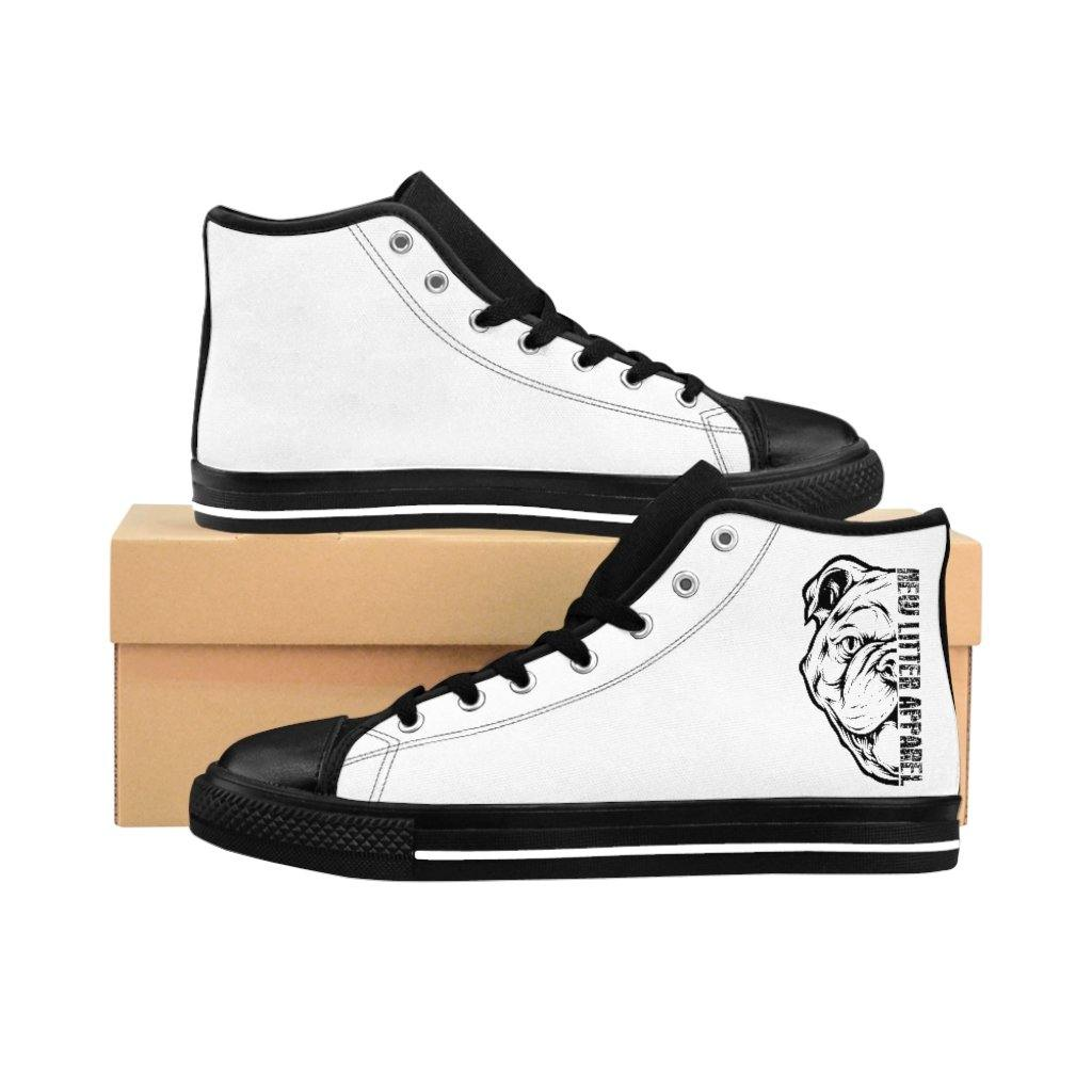 New Litter Apparel Bulldog Lovers Men's High-top Sneakers - New Litter Apparel