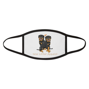New Litter Apparel Rottweiler Lovers Mixed-Fabric Face Mask - New Litter Apparel