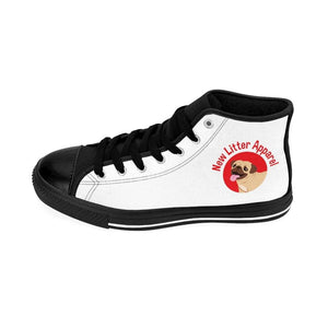 New Litter Apparel Small Dog Lovers Men's High-top Sneakers - New Litter Apparel