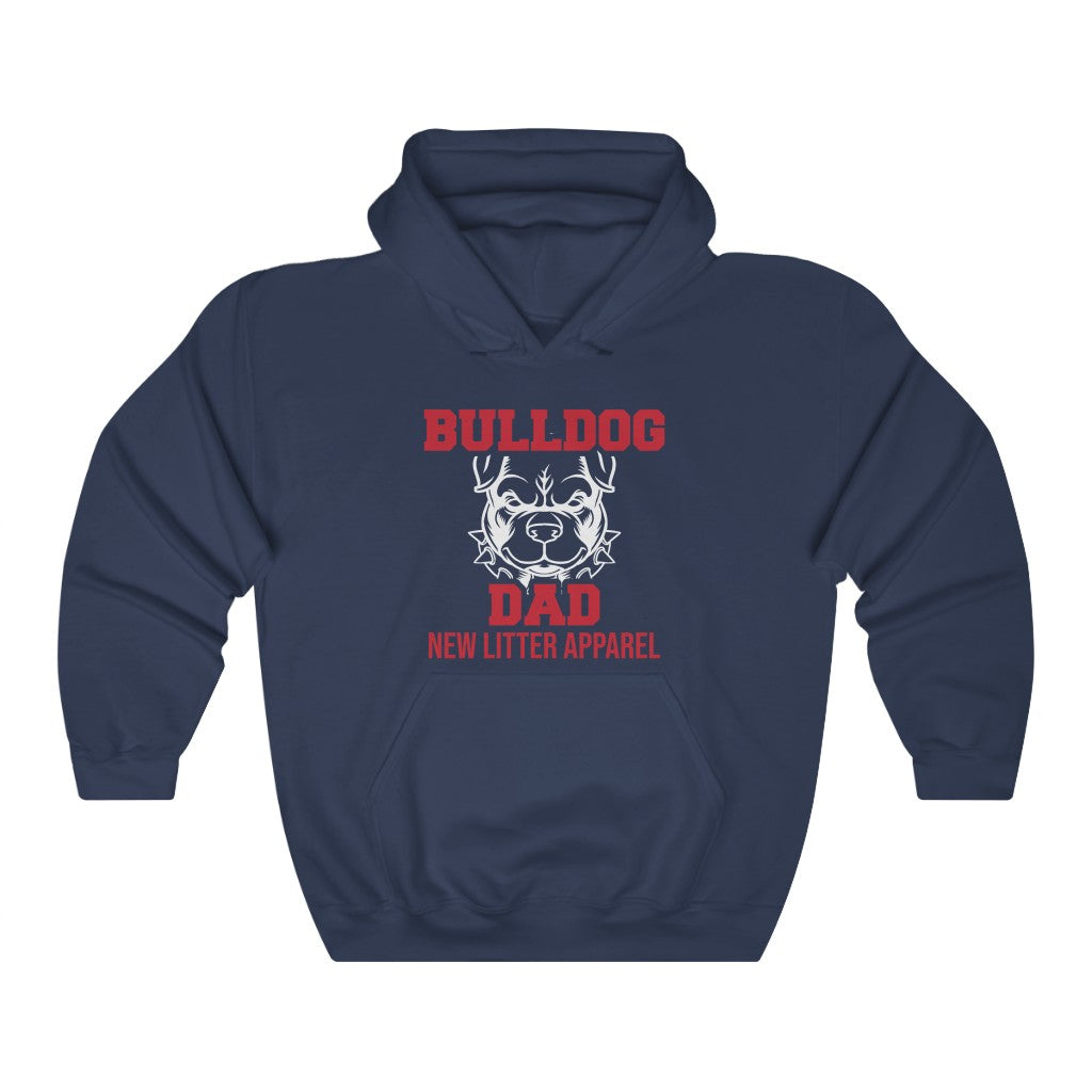New Litter Apparel Bulldog Dad Unisex Heavy Blend™ Hooded Sweatshirt