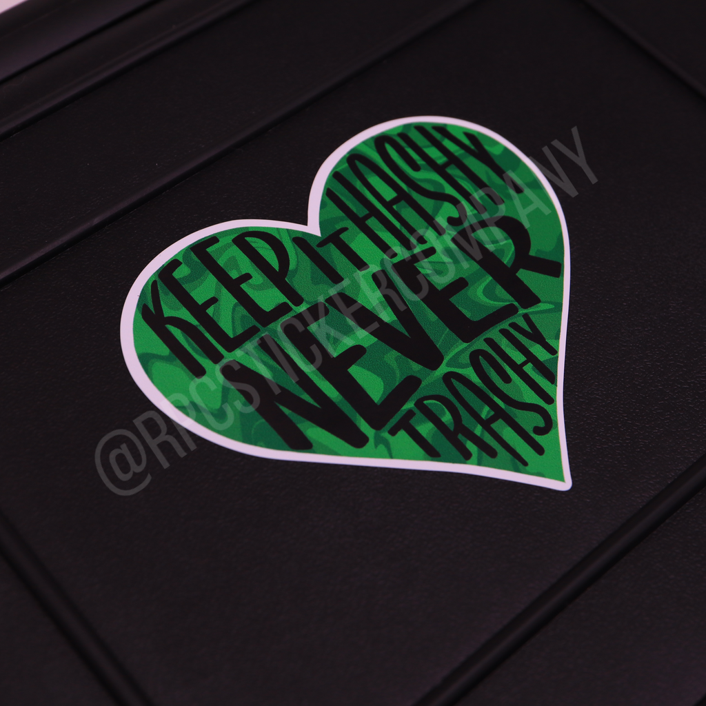 Keep It Hashy Sticker (Green Swirl)