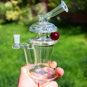 20mm Ruby Ball Spinner Rig by Casta Glass