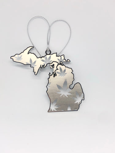Michigan Weed Leaf Ornament