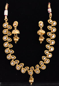 Tanya Gold Plated Necklace set with LCT Stones