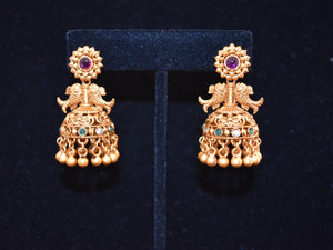 Lakshya Multi stone Jhumkas Fish Shaped Earrings