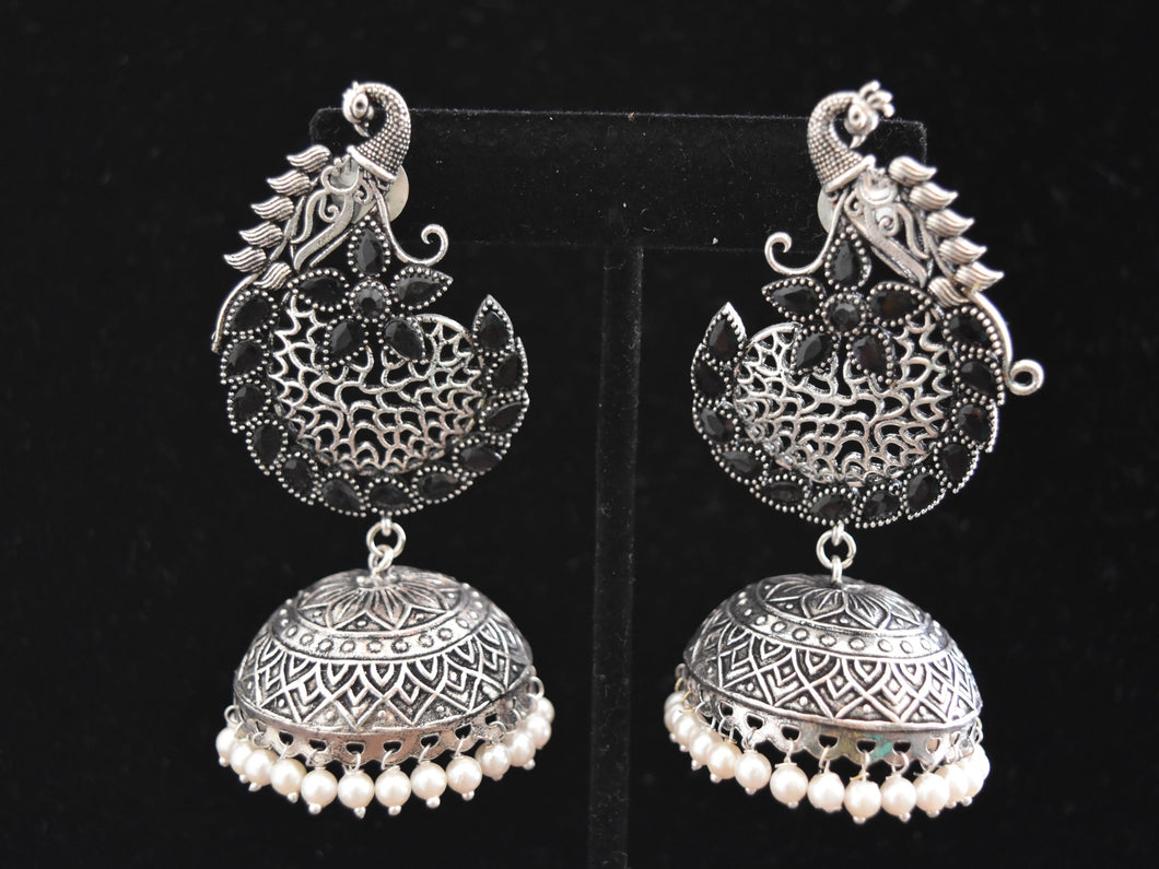 Indian Oxidised Earrings Jhumkas