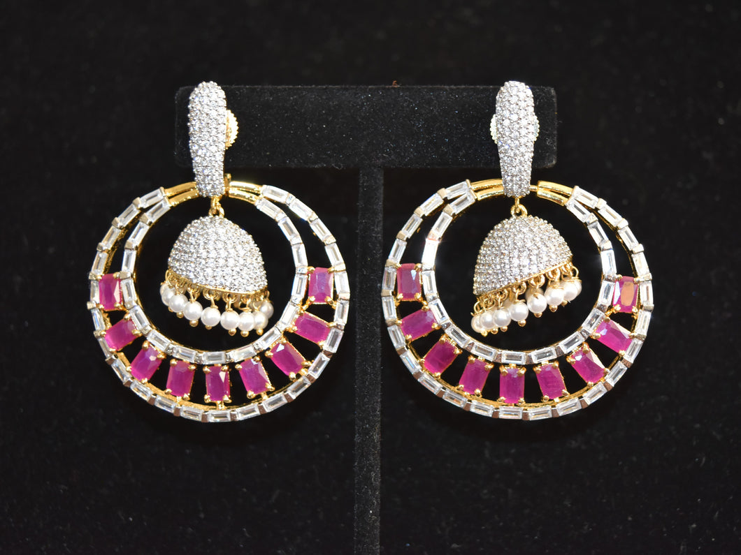 Indian American Diamond Earrings