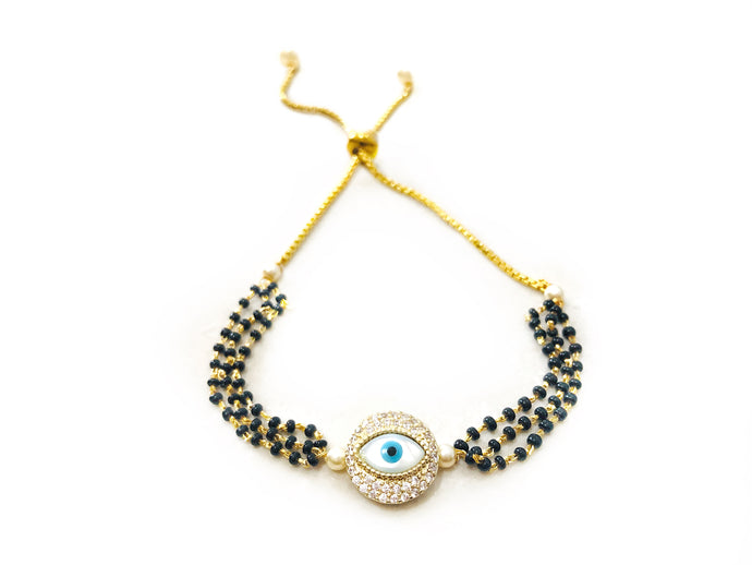 Ayna Trendy Eye American Diamond Bracelet