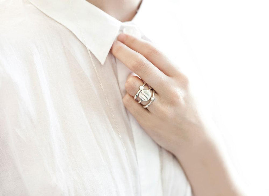 Louise Olsen Tower of Love Ring - Silver