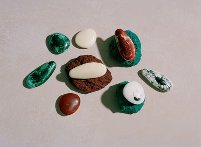 Pebble Brooch - Cream