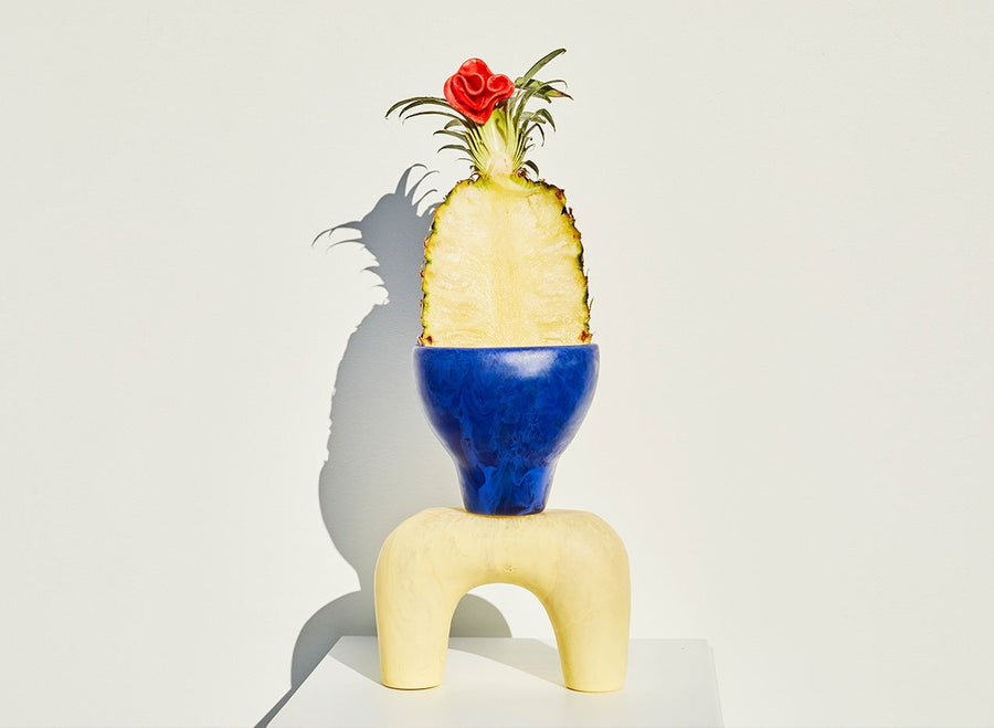 Large Resin Branch Vase - Lemon