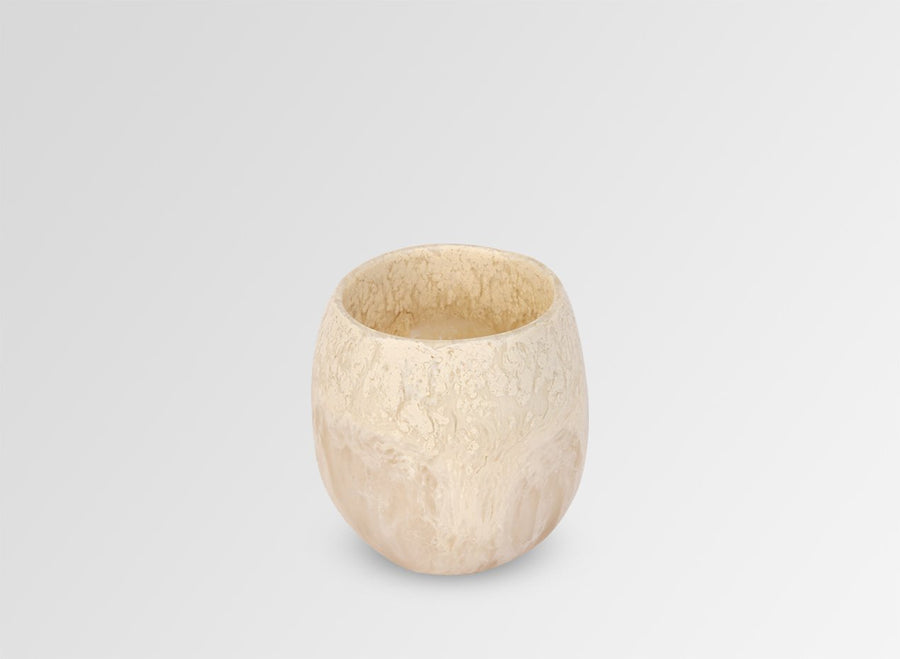 Large Resin Rock Cup - Sand