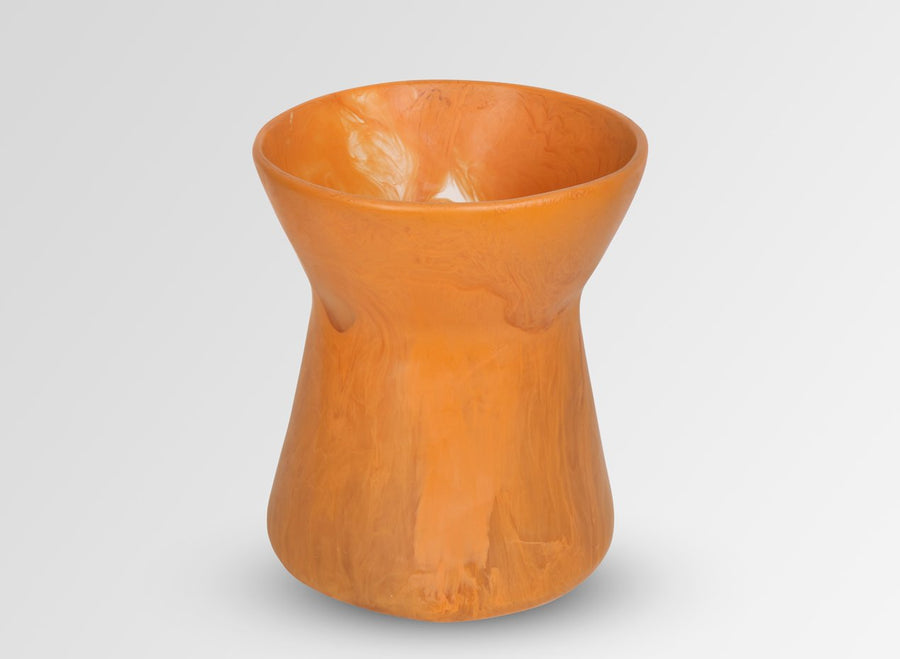 Resin Bow Vase - Terracotta Swirl