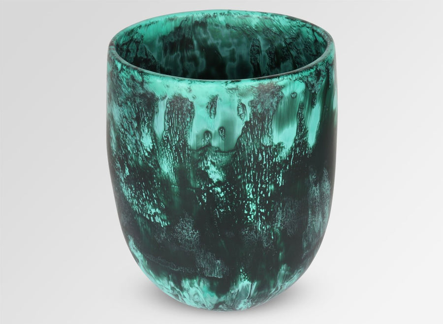 Extra Large Resin Rock Vase - Forest
