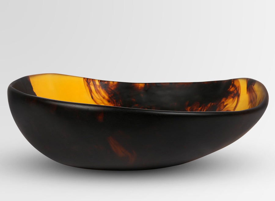 Large Resin Flow Bowl - Tortoiseshell