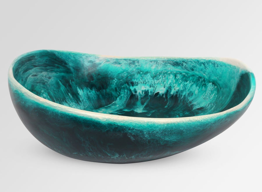 Large Resin Flow Bowl - Lagoon