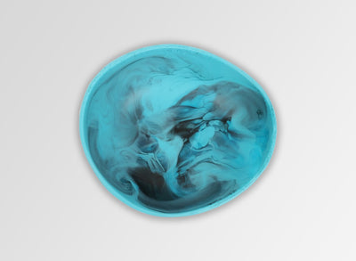 Resin Flow Dessert Bowl - Dark Turquoise