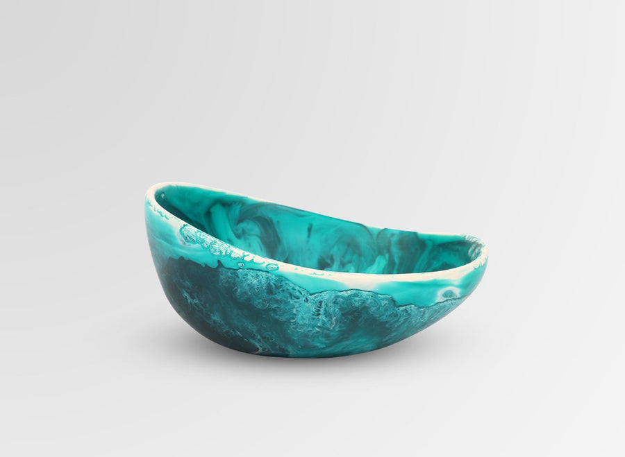 Resin Flow Dessert Bowl - Lagoon