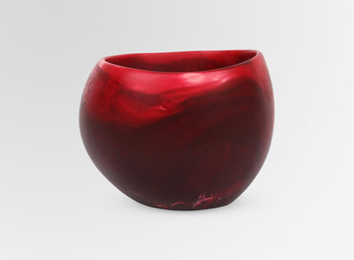 Small Resin Flow Dish - Raspberry