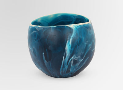 Small Resin Flow Dish - Moody Blue