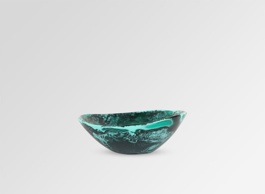 Resin Flow Soy Dish - Forest