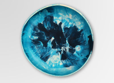 Large Resin Earth Bowl - Moody Blue