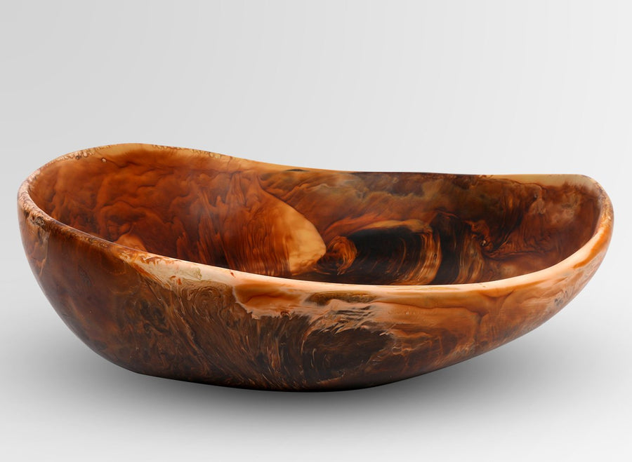 Large Resin Flow Bowl - Dark Horn