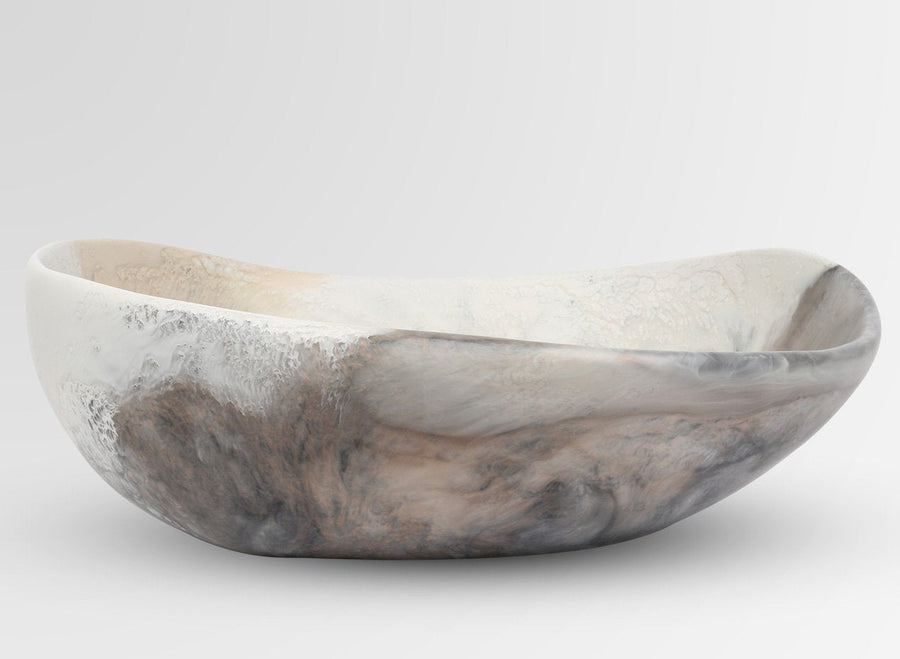Large Resin Flow Bowl - Sandy Pearl