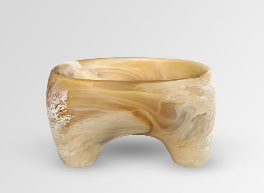 Large Offering Bowl - Caramel Swirl