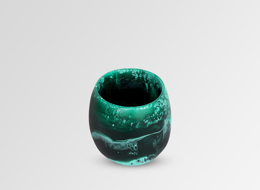 Large Resin Rock Cup - Forest