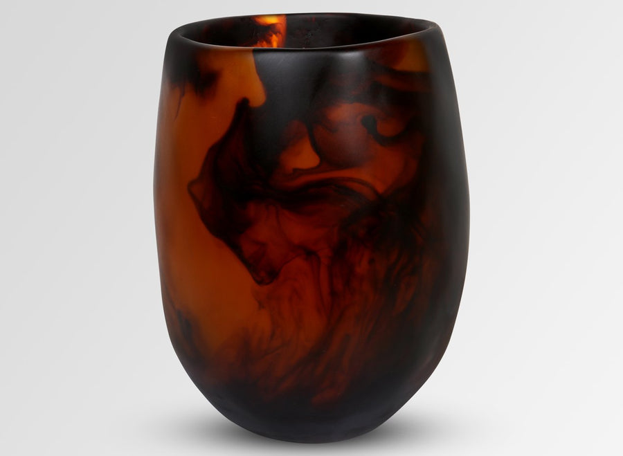 Extra Large Resin Rock Vase - Tortoiseshell