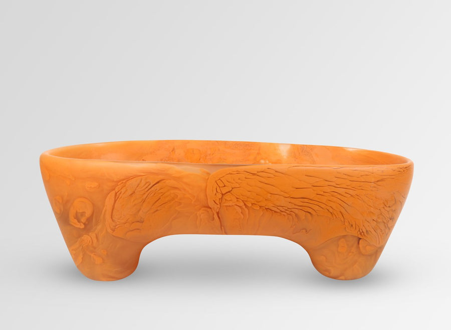 Long Offering Bowl - Terracotta Swirl