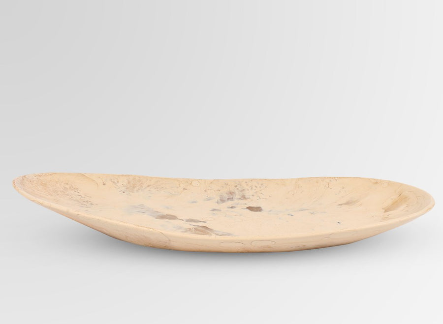 Long Resin Seed Platter - Sandalwood