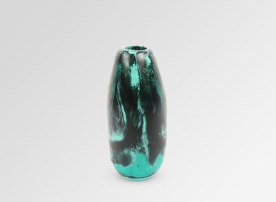 Medium Resin Pebble Vase - Forest