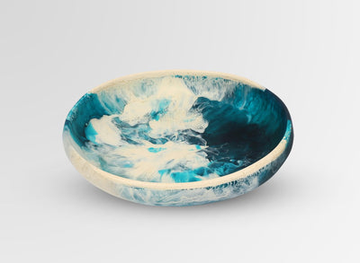 Medium Resin Earth Bowl - Lagoon