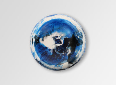 Medium Resin Mother of Pearl Dish - Lapis Swirl