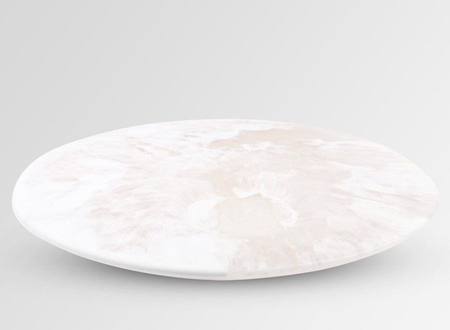 Resin Moon Cheese Platter - Snow Swirl