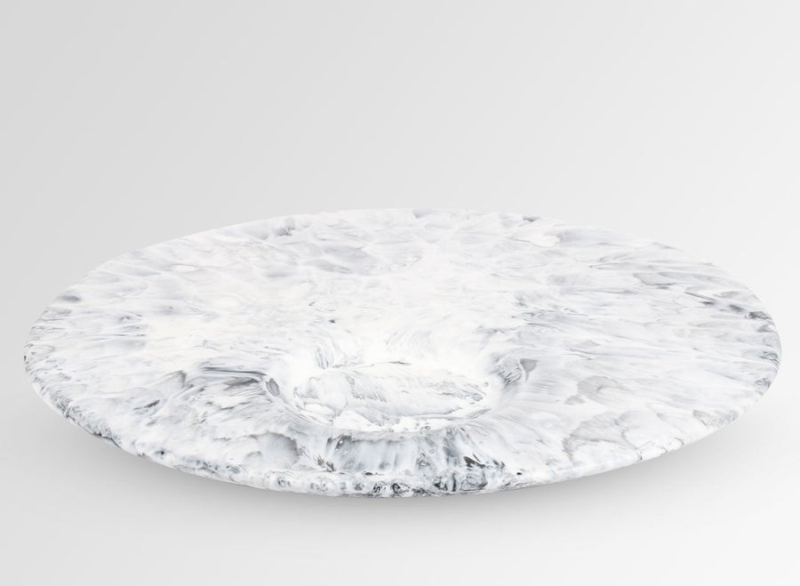 Resin Moon Cheese Platter - White Marble