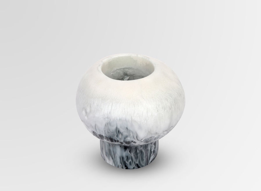Resin Round Pearl Vase - Abalone