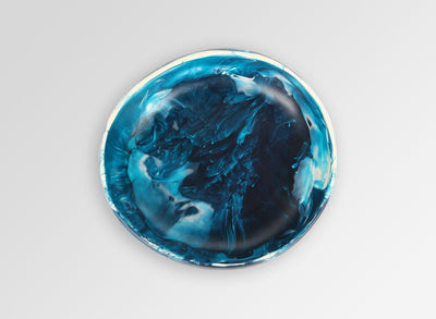 Small Resin Earth Bowl - Moody Blue